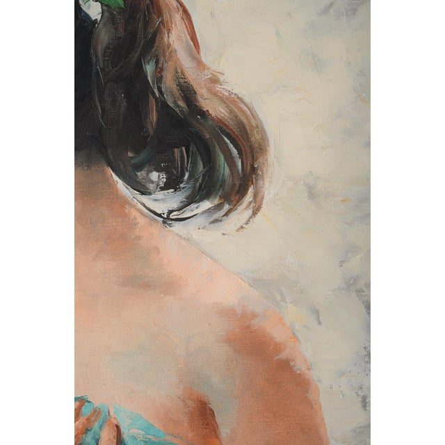 Tan Igor Talwinski Portrait of Innocent Girl Painting For Sale - Image 8 of 10