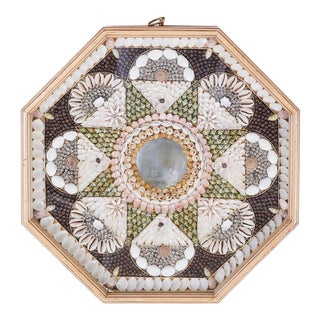 Mid 20th Century Shell Encrusted 'Sailors Valentine' with Mirror For Sale