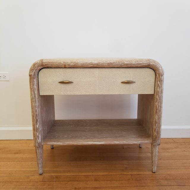 Made Goods Mid-Century Modern Made Goods Pierre Double Nightstand For Sale - Image 4 of 4
