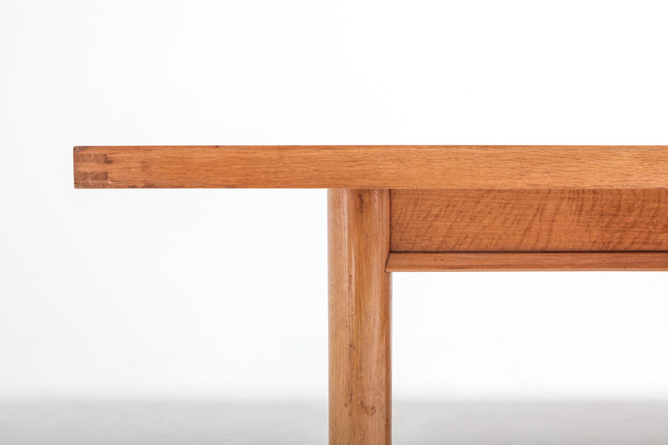 Oak American Modern Oak Dining Table By Robsjohn Gibbings For Sale   Image  7 Of 9