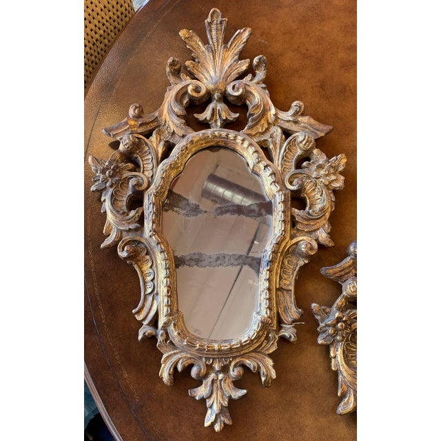 Italian 20th Century Italian Rococo Accent Mirrors - a Pair For Sale - Image 3 of 13