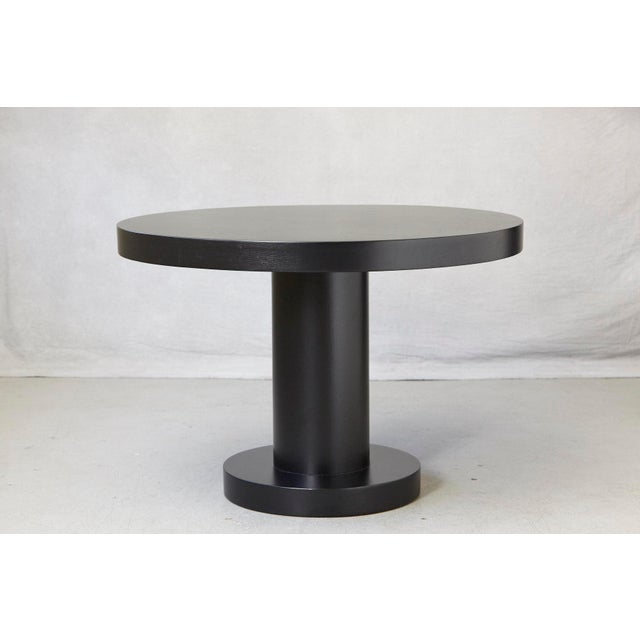 Contemporary Modern Puristic Oak Center Table in New Black Finish, 1960s For Sale - Image 3 of 12