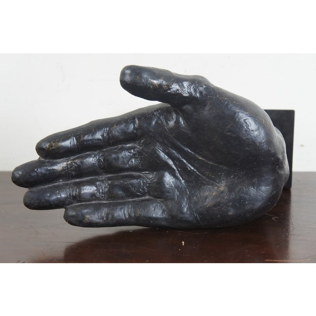 Global Views Cast Iron Open & Pointing Hand Sculptures - A Pair For Sale - Image 11 of 13