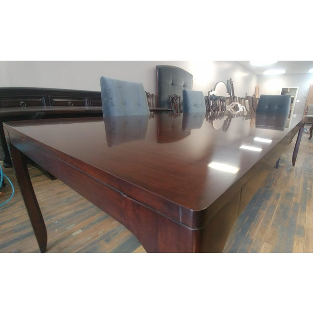 2010s Henredon Furniture Barbara Barry Perfect Parsons Walnut Dining Table For Sale - Image 5 of 13