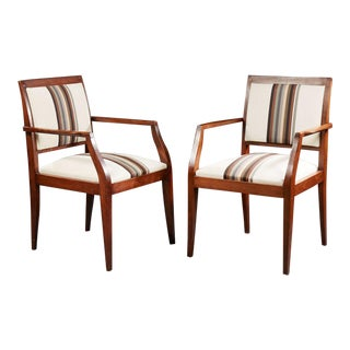 Alfred Porteneuve (1896-1949) - Circa 1940 - Pair of Bridge Armchairs. For Sale