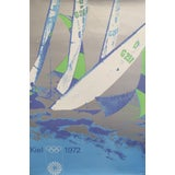 Image of Original Vintage 1972 Munich Olympic Poster, Sailing For Sale