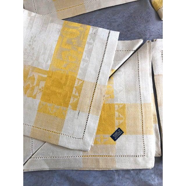 Vintage Damask Linen Napkins - Set of 12 For Sale - Image 12 of 13
