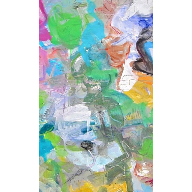 "Trixie Pitts ""Mardi Gras"" Abstract Painting by Trixie Pitts - Image 3 of 4"