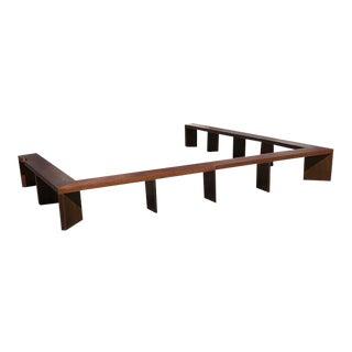 Calvin J. Tobin Mid-Century Modern Italian Walnut Sofa Tables