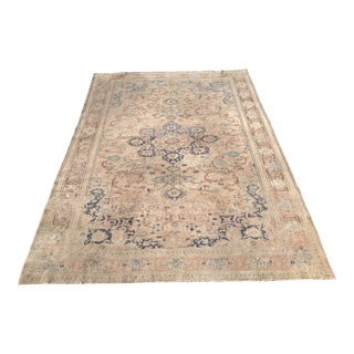 Vintage Oushak Rug - 6′7″ × 9′9″ For Sale