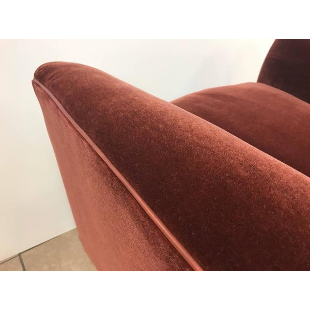 Art Deco Mohair Lounge Chair With Leather Trim For Sale - Image 4 of 5