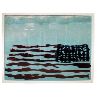 An Original American Flag Photo by Oberto Gili For Sale