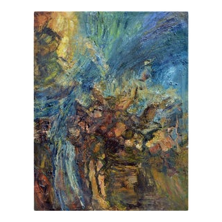 """Mid 20th Century """"The Sea as a Sculpture"""" Figurative Abstract Oil Painting For Sale"""