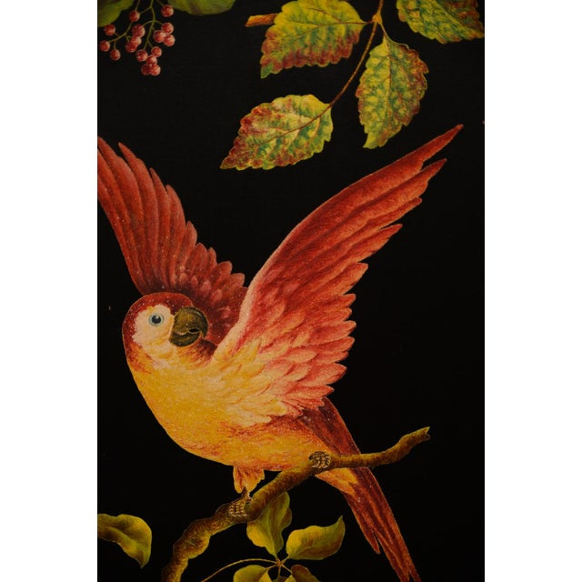 French Three-Panel Parrot Motif Screen - Image 9 of 11