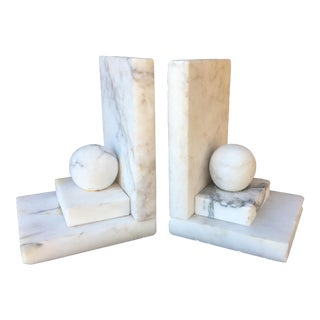 Vintage 1960's Italian Alabaster Bookends - a Pair