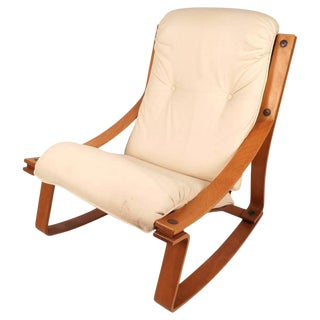 Stunning Mid-Century Modern Norwegian Rocking Chair by Westnofa For Sale