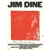 """Image of Jim Dine Red Bandana 30.75"""" X 22"""" Lithograph 1971 Pop Art Red For Sale"""