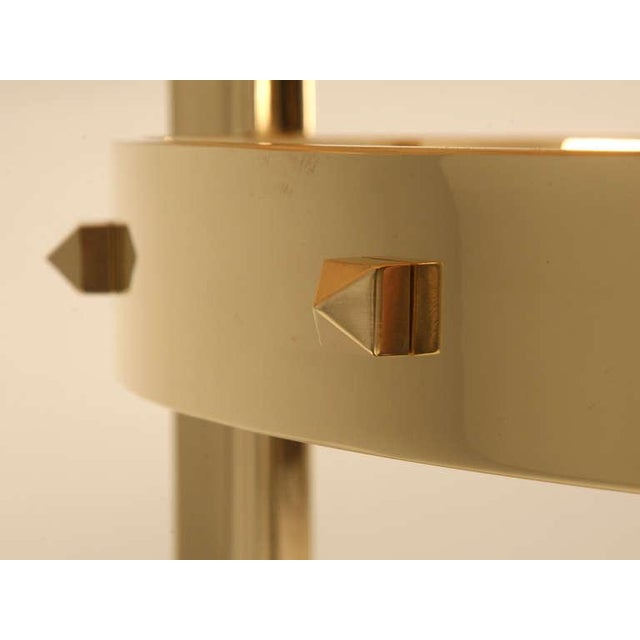 Modern Custom Made Modern Brass & Onyx Dining Table For Sale - Image 3 of 11