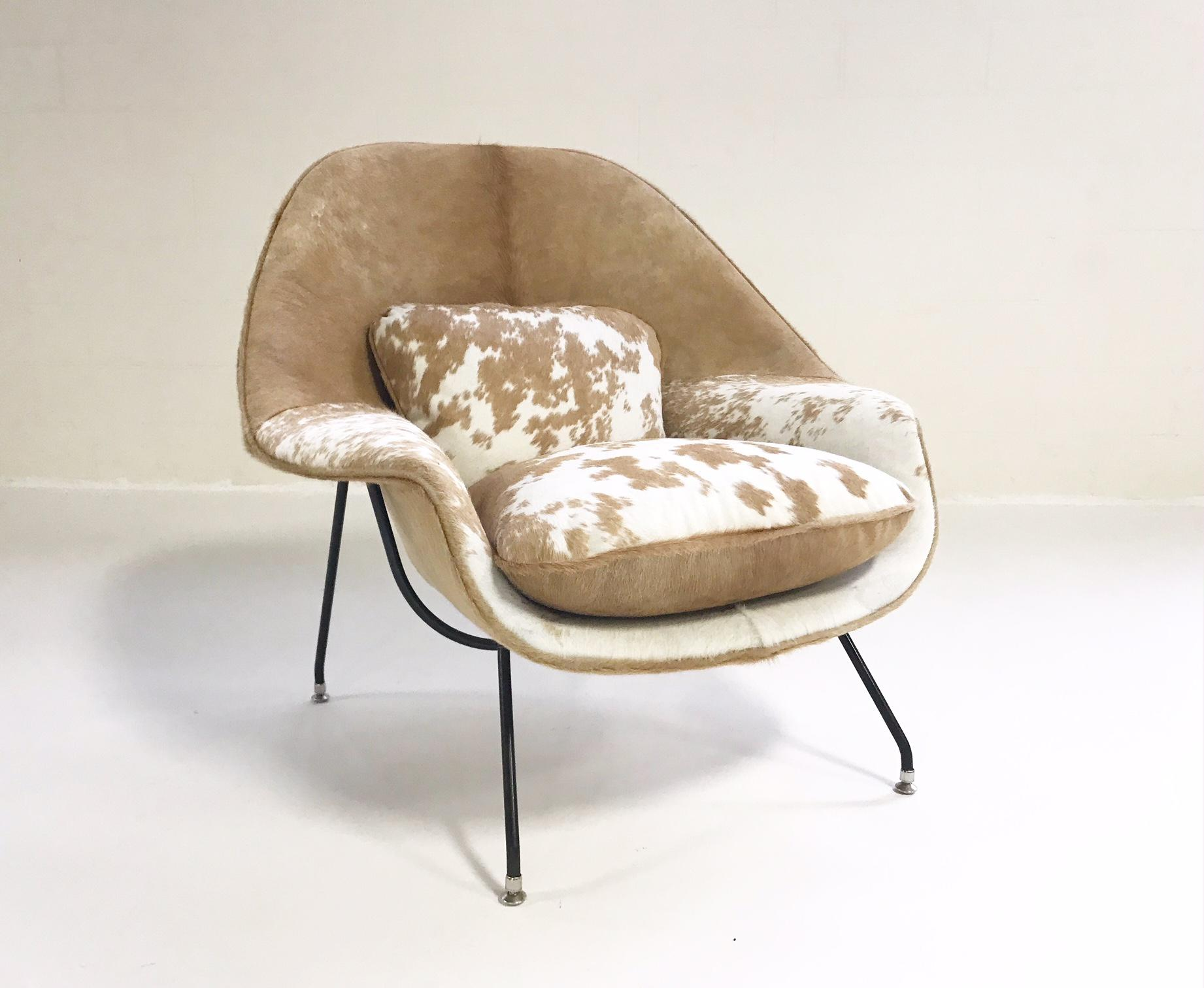 Forsyth Vintage Eero Saarinen Womb Chair Restored In Brazilian Cowhide For  Sale   Image 9 Of
