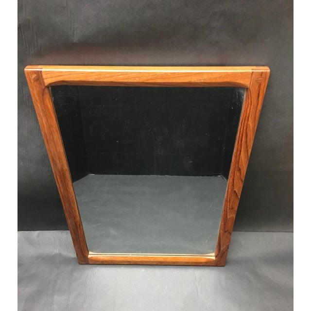Wood 1960's Vintage Askel Kjersgaard for Odder Denmark Teak Mirror For Sale - Image 7 of 7