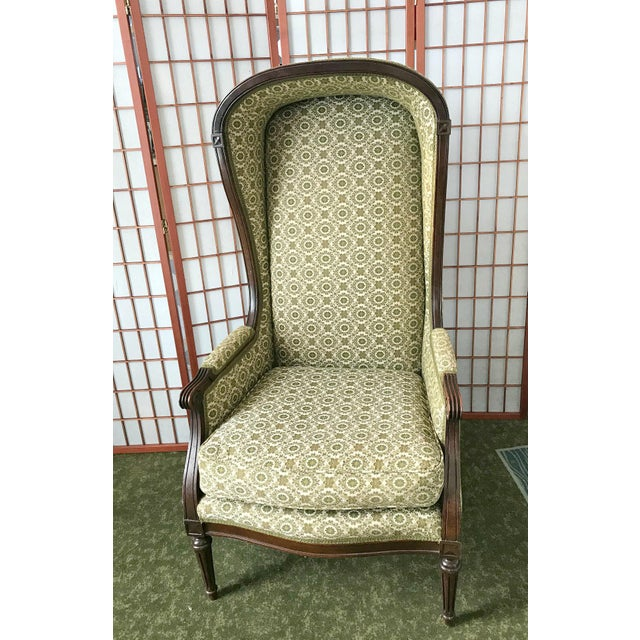 Vintage Victorian Hooded Bonnet Chair For Sale - Image 6 of 6