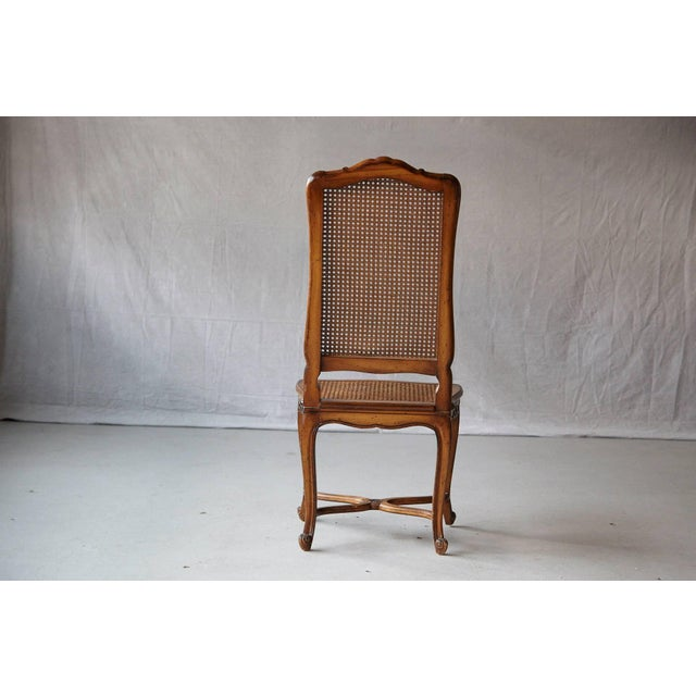 19th Century Louis XV Style Caned High Back Wood Chaise For Sale - Image 4 of 11