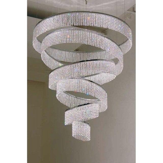Metal Ring Swirl Crystal Jewel For Sale - Image 7 of 9