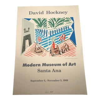 David Hockney Modern Museum of Art Santa Ana 1989 Exhibition Poster For Sale