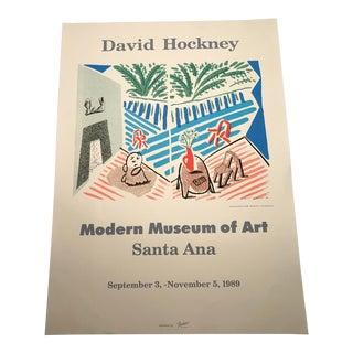 David Hockney Modern Museum of Art Santa Ana 1989 Exhibition Poster For Sale