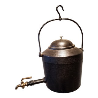 Antique Kettle With Brass Spigot - Circa 1890 For Sale