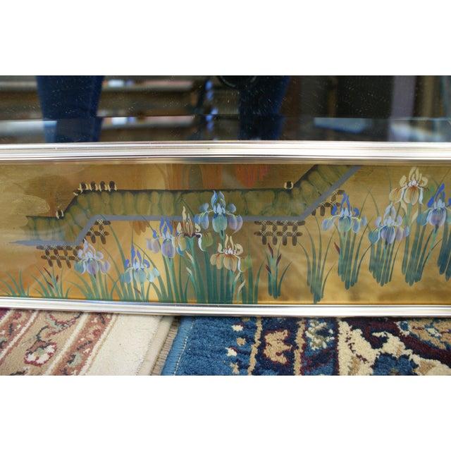 Large La Barge Eglomise Gold Beveled Mirror For Sale - Image 9 of 13