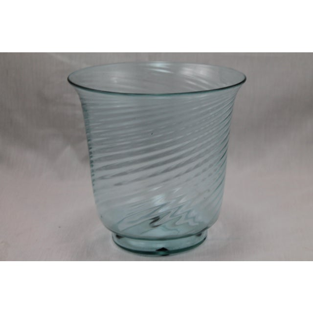 Art Deco Era Steuben Glassworks Baby Blue Translucent Swirl Bowl - Image 7 of 8