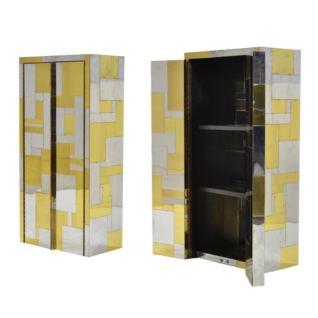 Mid-Century Modern Pair of Paul Evans Cityscape Wall-Mounted Cabinets For Sale - Image 3 of 7