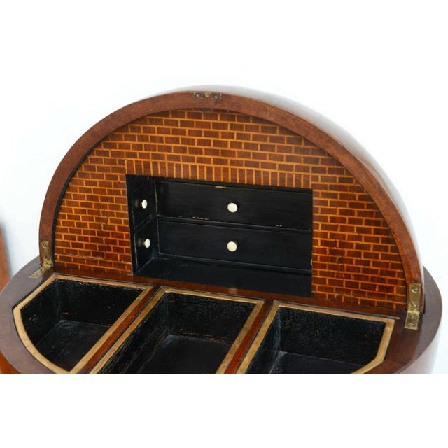 Fine Biedermeier Mahogany, Ebonized and Parcel-Gilt Globe Form Work Desk For Sale - Image 4 of 9