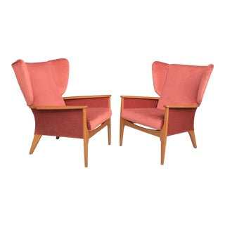 Fantastic Pair Wingback Chairs by Parker Knoll For Sale