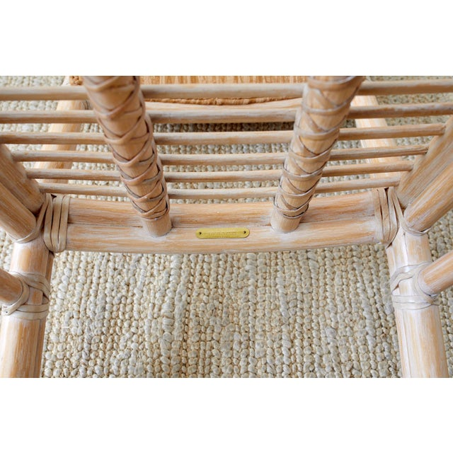 Late 20th Century McGuire Cerused Rattan Dining Chairs- Set of 9 For Sale - Image 5 of 13