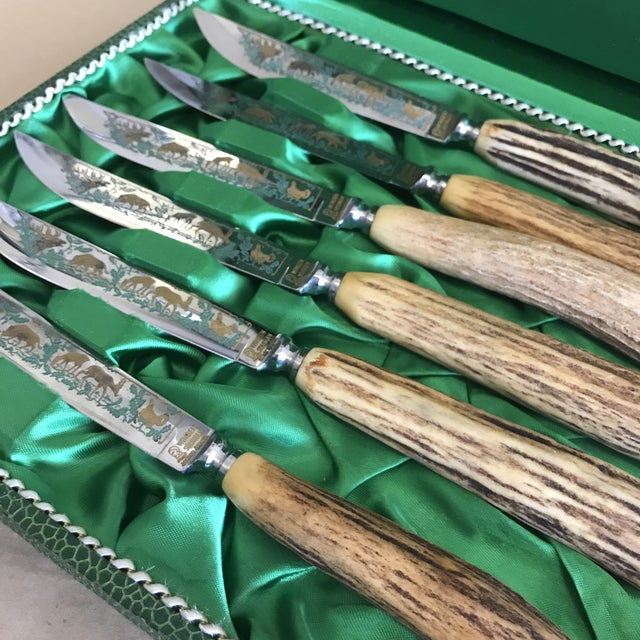 Primitive Anton Wingen Solingen Germany Rostfrei Steak Knives - Set of 6 For Sale - Image 3 of 6