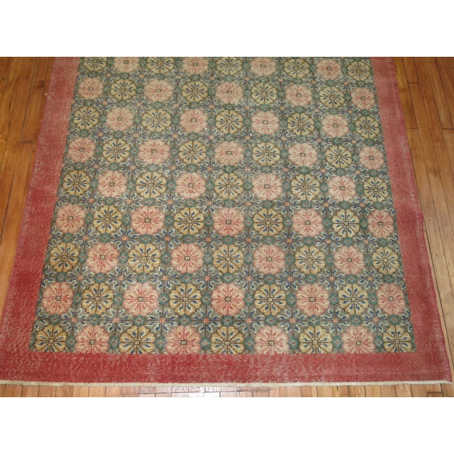 French Country Vintage Turkish Konya Rug, 5'5'' X 9'1'' For Sale - Image 3 of 6