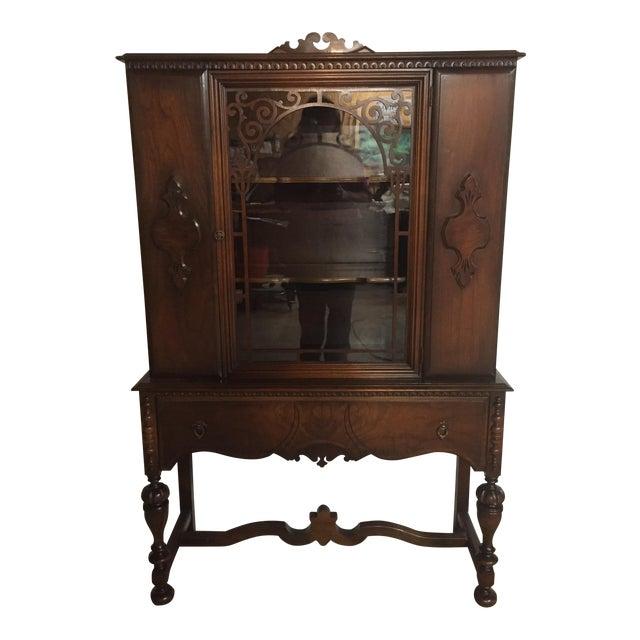 Antique Knechtel Wood China Cabinet - Antique Knechtel Wood China Cabinet Chairish