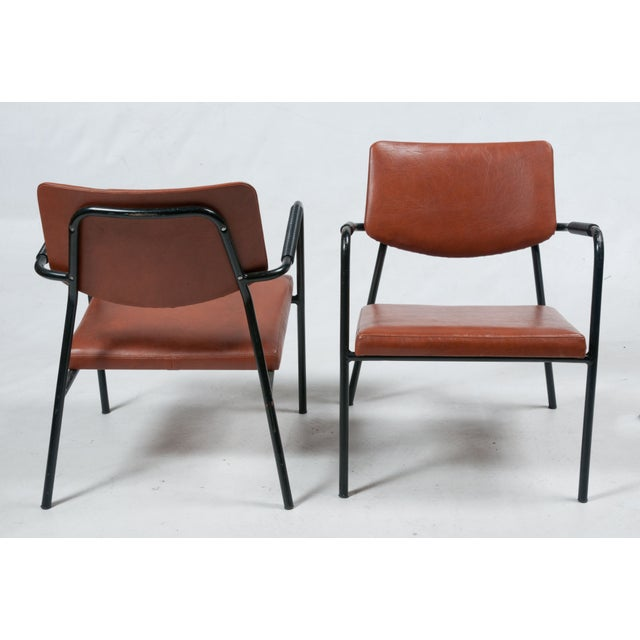 1950s Leather Armchairs - A Pair - Image 3 of 7