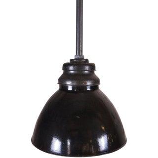 Black-Enamel Industrial Pendant For Sale