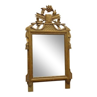 Neoclassical Decorative Carved Mirror For Sale