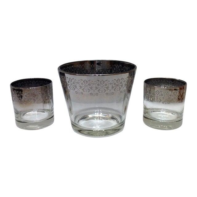 Mid-Century Silver Ombré Cocktail Set - Set of 3 For Sale