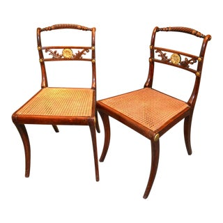 English Regency Rosewood Side Chairs - a Pair For Sale