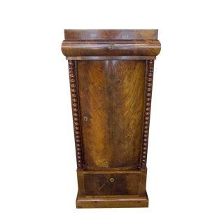 Biedermeier Mahogany Pedestal Cabinet