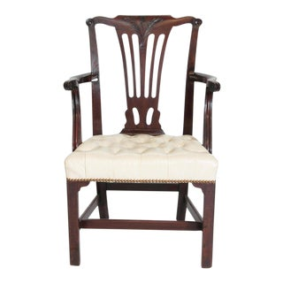 Late 18th Century Chippendale Mahogany Armchair For Sale
