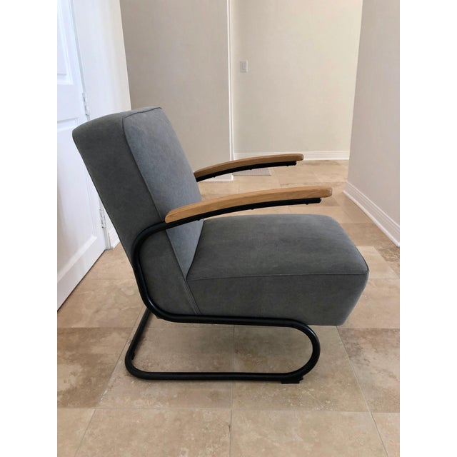 Contemporary Mid Century Modern Kem Weber Style Springer Accent Chairs- A Pair For Sale - Image 3 of 7