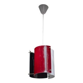 Yki Nummi plexiglass pendant lamp for Orno, Finland, 1960s For Sale
