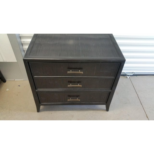 2010s Bamboo & Mahogany Marin 3-Drawer Nightstand Brownstone Furniture Co. For Sale - Image 5 of 8