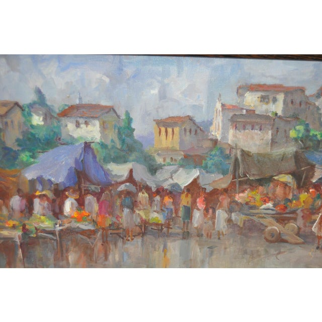 Impressionism Vintage Impressionist Oil Painting by Gabetto For Sale - Image 3 of 8